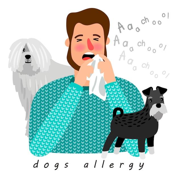Alergia Na Psy Premium Wektorów