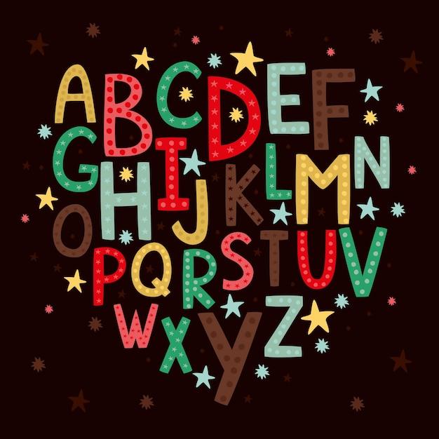 Alfabet dla dzieci Darmowych Wektorów