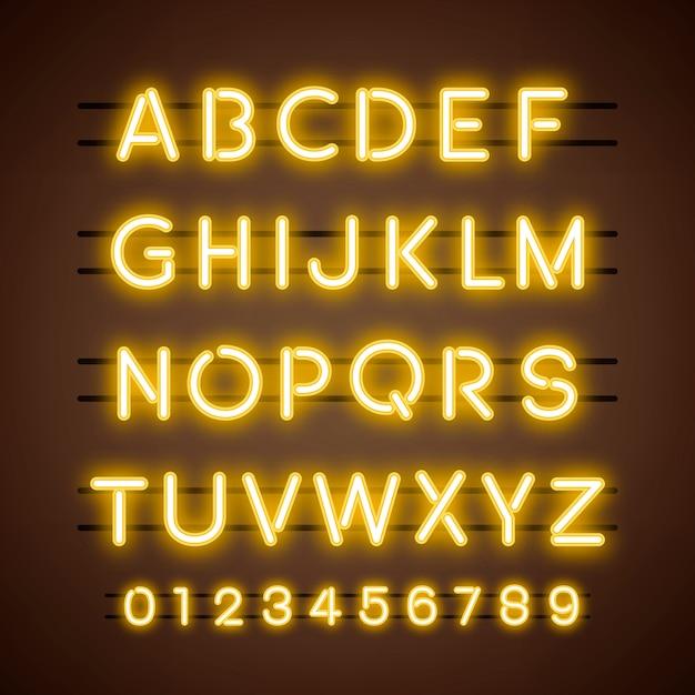 Alfabet i wektor liczbowy Darmowych Wektorów