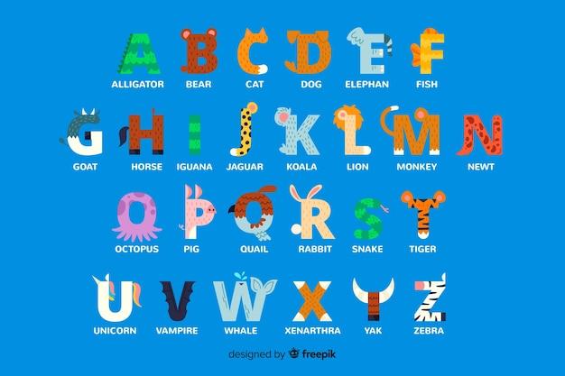Alfabet z literą zwierząt Darmowych Wektorów