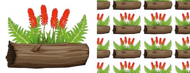 Aloes z czerwonymi kwiatami Darmowych Wektorów