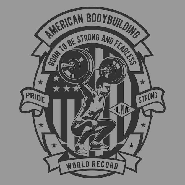 American body building Premium Wektorów
