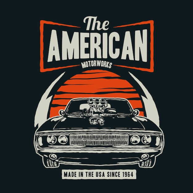 American Muscle Premium Wektorów
