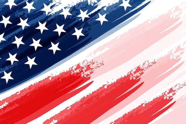 Amerykańską Flagę Z Grunge Styl Tło Wektor Premii Premium Wektorów
