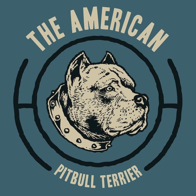 Amerykański Pitbull Terrier Premium Wektorów