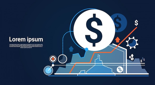Analiza wykres finansowy wykres biznesowy wykres Premium Wektorów
