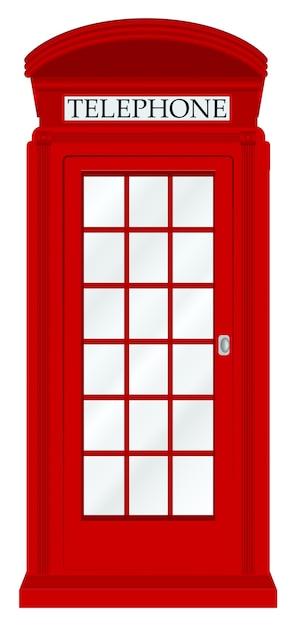 Anglia Budki Telefonicznej Na Białym Tle Premium Wektorów