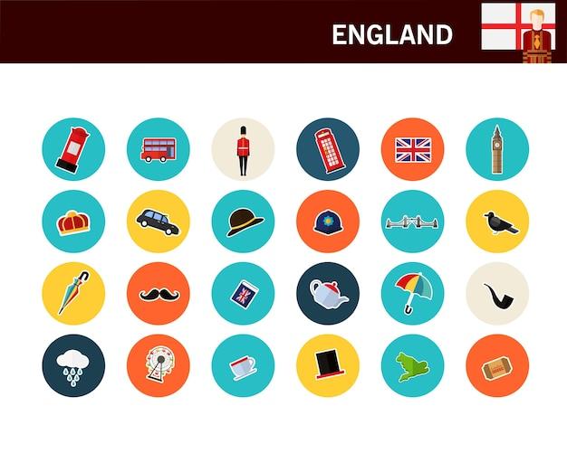 Anglia koncepcja płaskie ikony Premium Wektorów