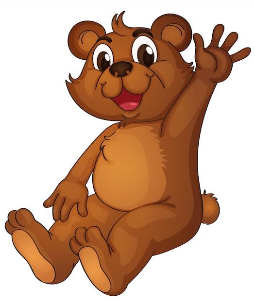 Animowany Niedźwiedź Przywitający Się Z Ręką Darmowych Wektorów