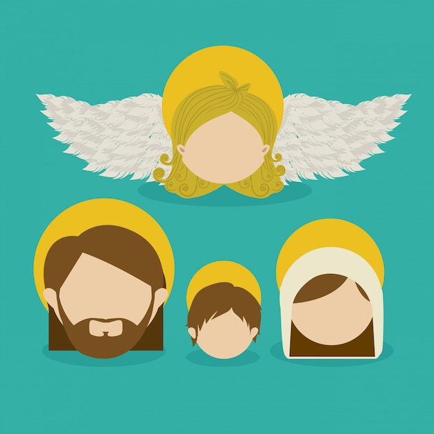 Anioł Anioła Premium Wektorów