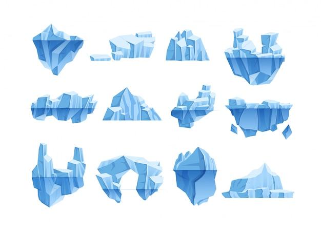 Antarktyka Zimowy Krajobraz Dla Ilustracji Wektorowych Kreskówki Projektowania Gier Premium Wektorów