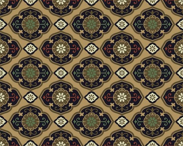 Antyczny Wzór Kalejdoskop Kwiat Orientalnej Azjatyckiej Krzywej Spirali Premium Wektorów