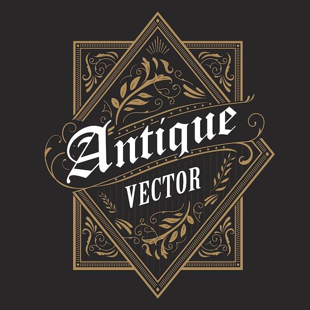 Antyka Westernu Ramy Rocznika Etykietki Rabatowa Ręka Rysująca Typografii Retro Ilustracja Premium Wektorów