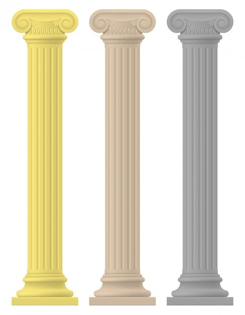 Antykwarska kolumna zapasu wektoru ilustracja Premium Wektorów