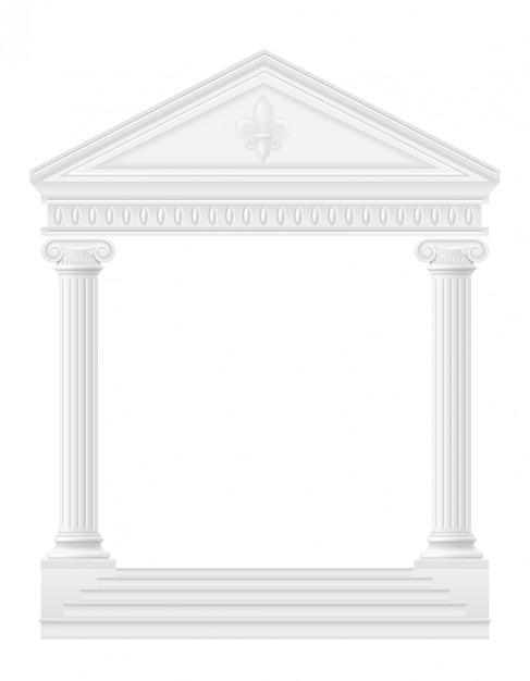Antykwarski łuku zapasu wektoru ilustracja Premium Wektorów