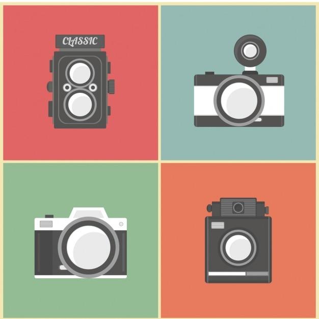 Aparaty Fotograficzne Ewolucja Darmowych Wektorów