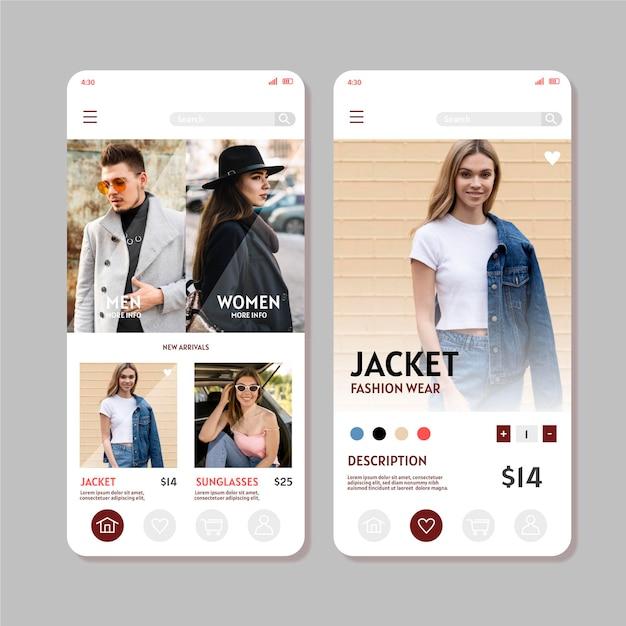 Aplikacja Do Zakupów Mody Darmowych Wektorów