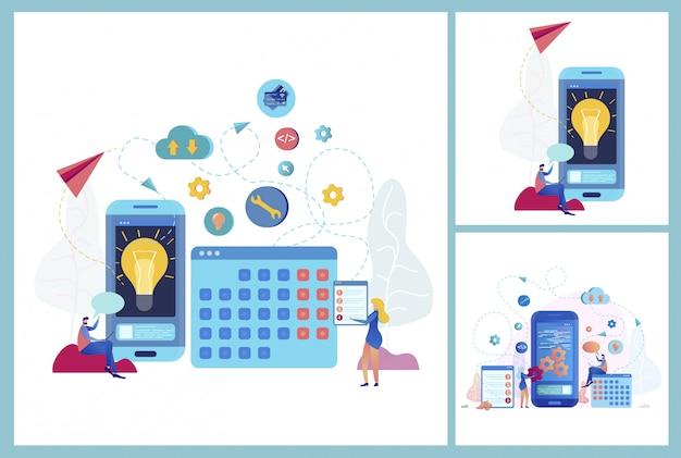 Aplikacja Mobilna Dla Koncepcji Wektor Biznesu Darmowych Wektorów