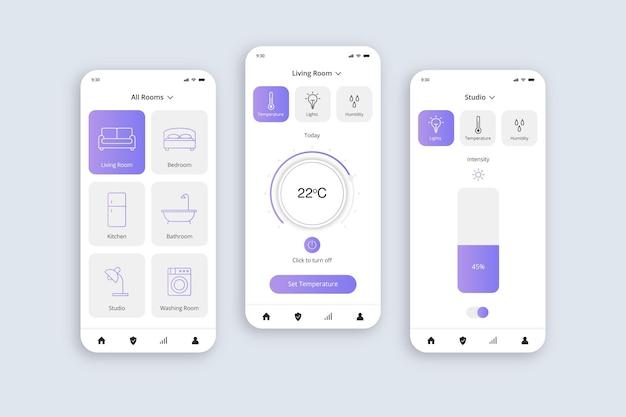Aplikacja Smart Home Darmowych Wektorów