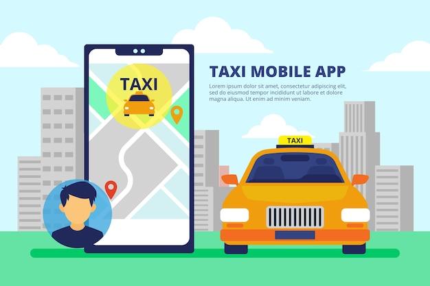 Aplikacja Taxi Z Interfejsem Telefonu Darmowych Wektorów