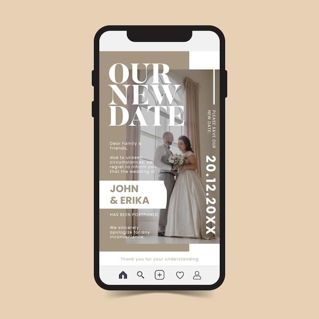 Aplikacja Telefonu Komórkowego Z Przełożonym Powiadomieniem O ślubie Darmowych Wektorów