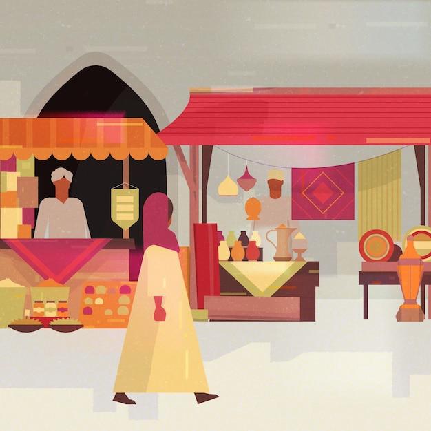 Arabska Ilustracja Bazaru Darmowych Wektorów