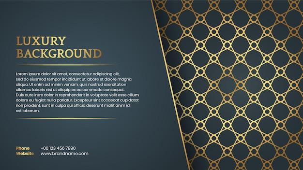 Arabski styl eleganckie tło z miejsca na tekst Premium Wektorów