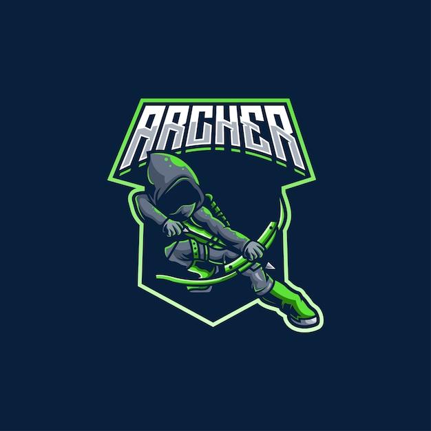 Archer Target Arrow łucznictwo łucznicze Premium Wektorów