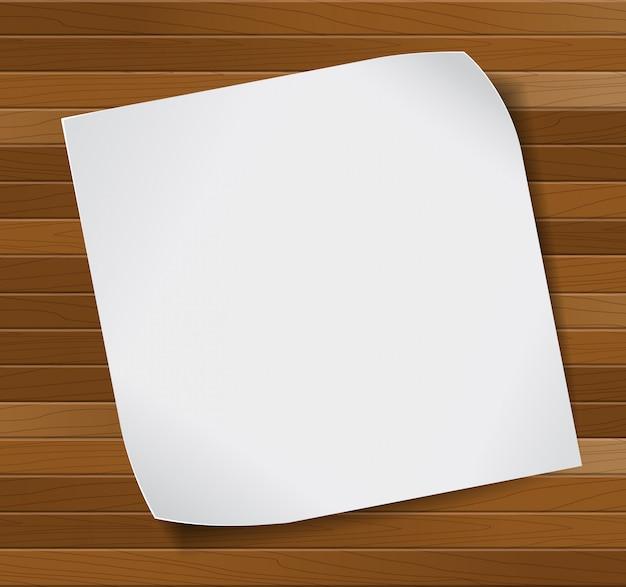 Arkusz Papieru Na Drewniane Tła. Premium Wektorów
