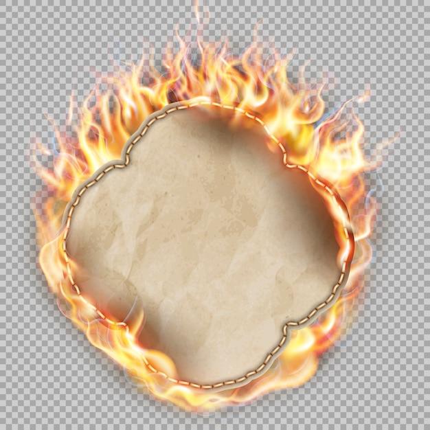 Arkusz Papieru W Płomieniu. Premium Wektorów
