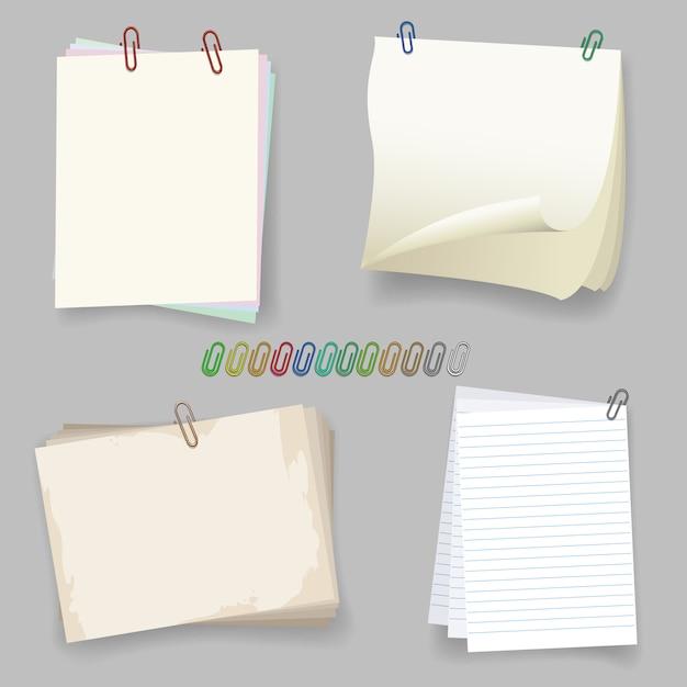 Arkusze z spinaczem do papieru Premium Wektorów