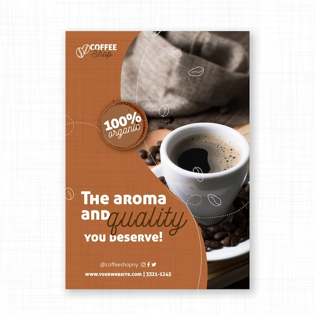 Aromat I Jakość Plakatu Kawowego Darmowych Wektorów
