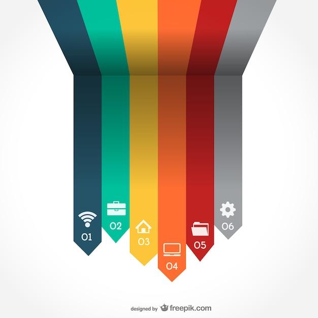 Arrrows Wektorowe Infography Darmowych Wektorów