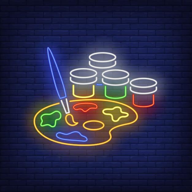 Artysta Maluje Neon Darmowych Wektorów