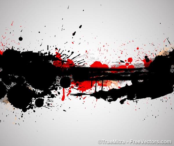 Artystyczne tło plamy krwi Darmowych Wektorów