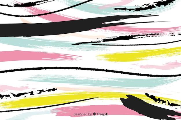 Artystyczny obrysu pędzla farba tła Darmowych Wektorów