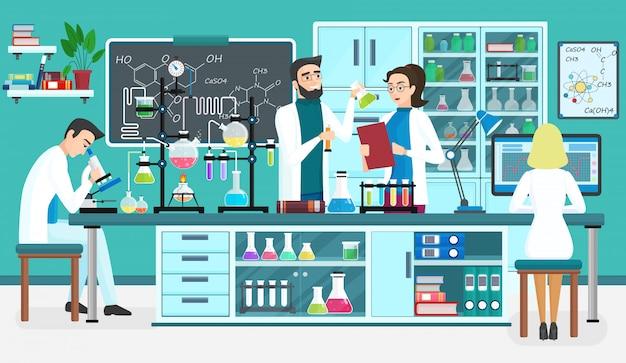 Asystenci Laboratoryjni Premium Wektorów