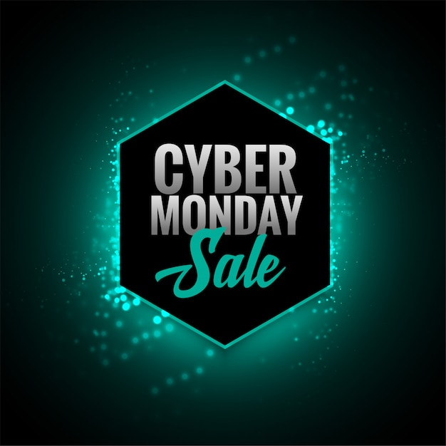 Atrakcyjny cyber poniedziałek sprzedaż świecące projekt transparentu Darmowych Wektorów
