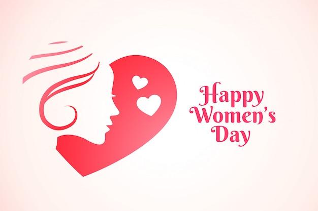 Atrakcyjny Szczęśliwy Kobieta Dnia Tło Darmowych Wektorów