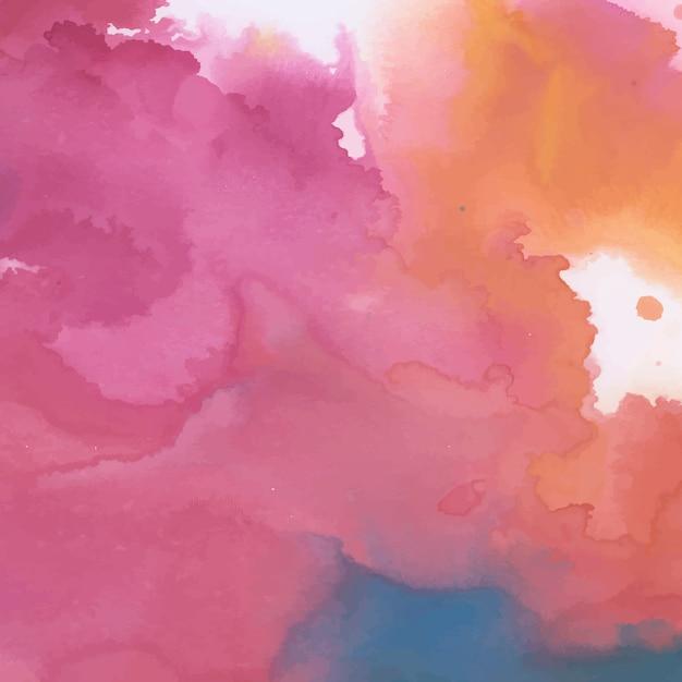 Atrament Kolorowy Akwarela Teksturowanej Tło Darmowych Wektorów
