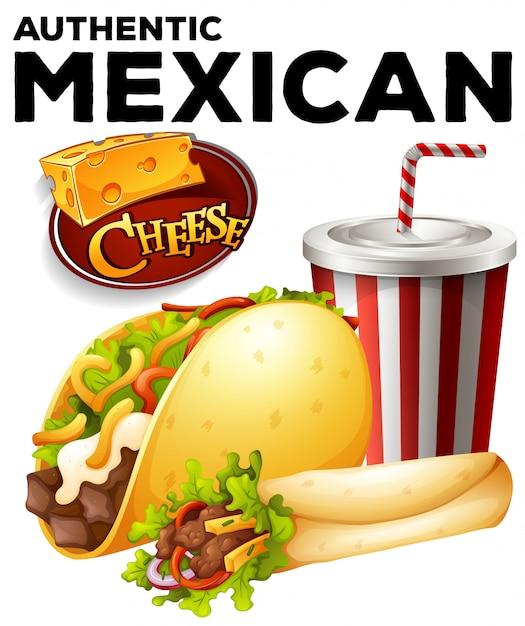Autentyczne Jedzenie Z Meksyku Darmowych Wektorów