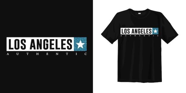 Autentyczny Nadruk Koszulki Los Angeles Premium Wektorów