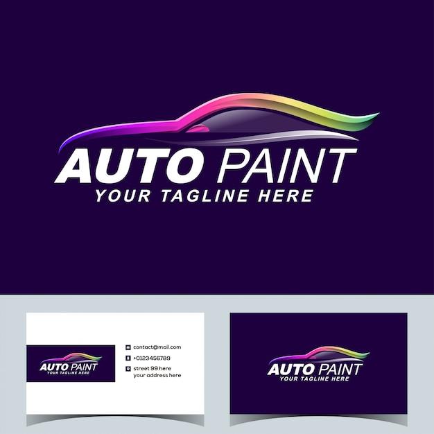 Auto Kolorowe Farby Samochodowe Logo Motoryzacyjny Wektor Premium Wektorów