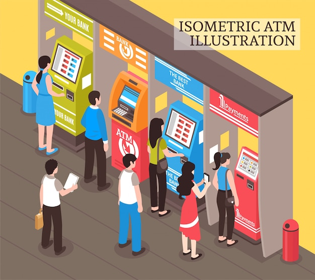 Automaty Atm Izometryczne Darmowych Wektorów