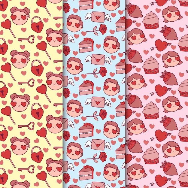 Awatary Z Walentynkowym Wzorem Oczu W Kształcie Serca Darmowych Wektorów