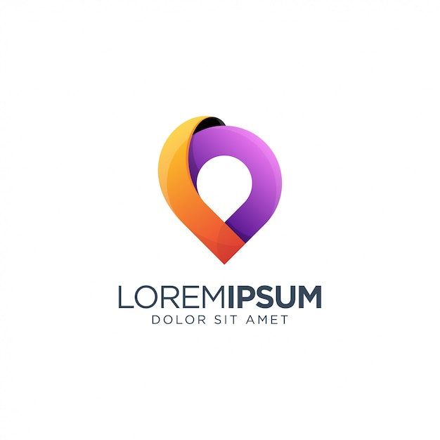 Awesome place logo design Premium Wektorów