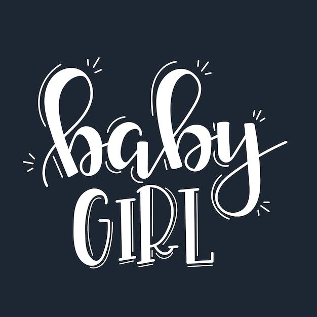 Baby Girl Motywacyjny Cytat Wyciągnąć Rękę. Premium Wektorów