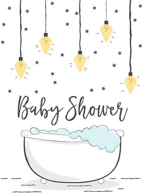 Baby shower Premium Wektorów