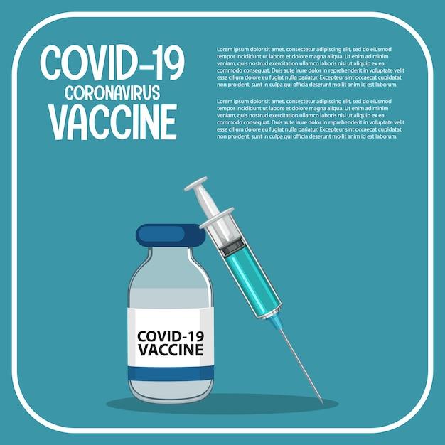 Badania I Rozwój Szczepionek Dla Plakatu Lub Banera Dotyczącego Covid-19 Lub Koronawirusa Darmowych Wektorów