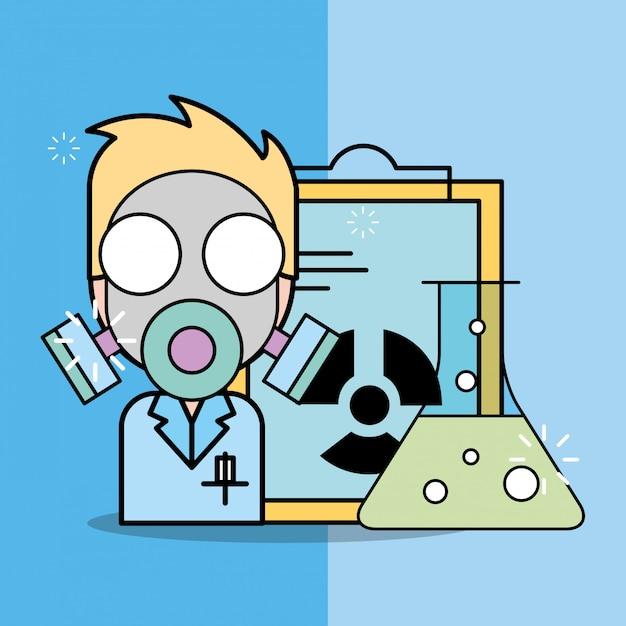 Badania w laboratorium naukowym Premium Wektorów